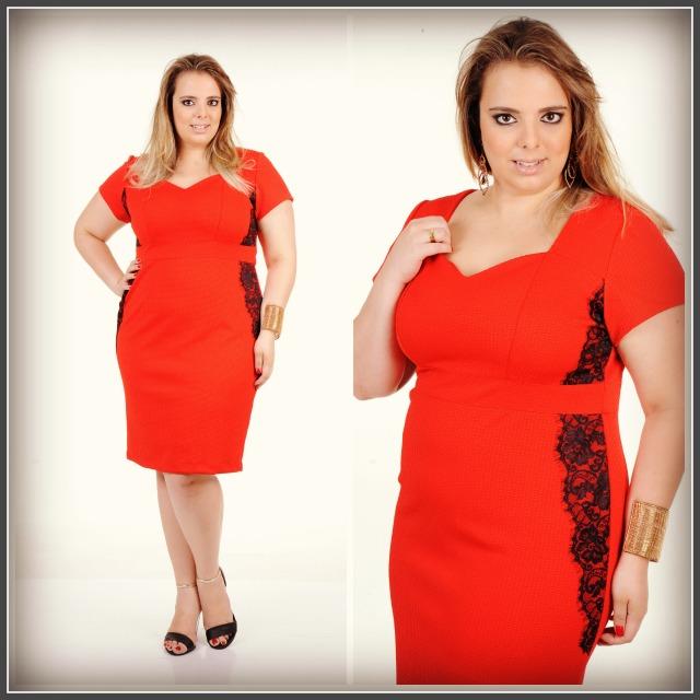 vestido vermelho com renda