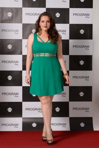 vestido plus size verde prg night ref. 116033