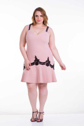 vestido rosê plus size ref. 111180