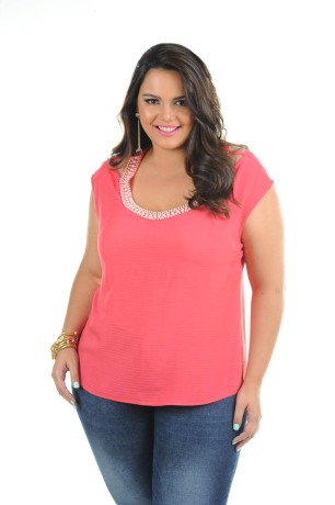 blusa plus size rosa ref. 116093